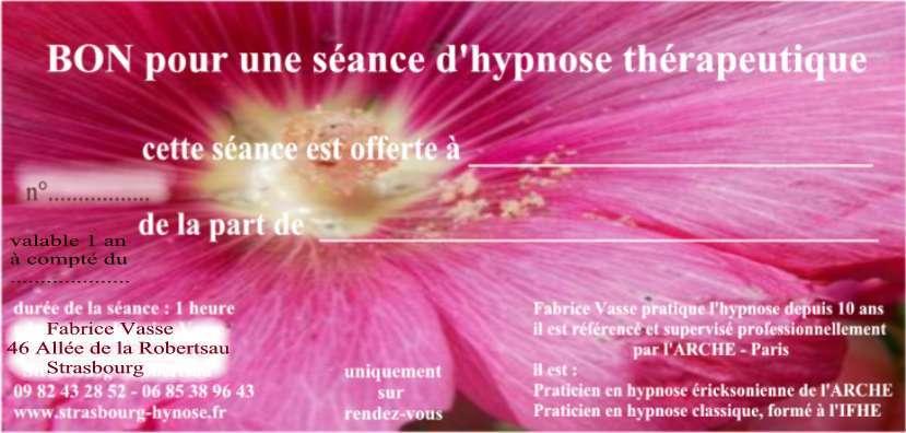 Bon cadeau Hypnose
